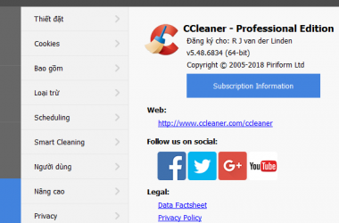 Download CCleaner Professional 5.48.6834 Full Crack