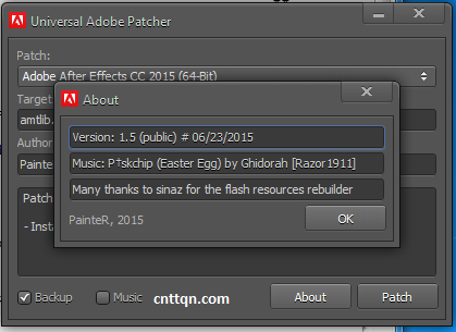 Universal Adobe Patcher 2.0 - Công cụ Crack Adobe All In One