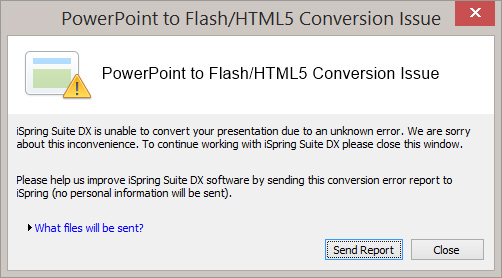 flash corrupts powerpoint 4